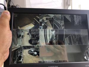 中山防犯カメラ ディスプレイ